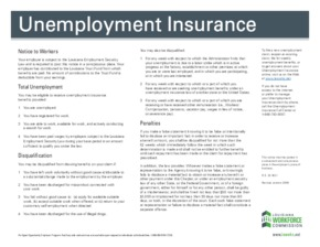 Free Louisiana Notice to Workers (U.I. benefits) PDF (Unemployment Law Poster)