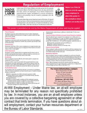 Regulation of Employment Poster PDF