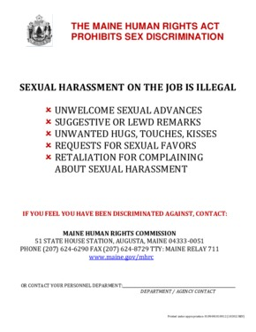 Free Maine Sexual Harassment Poster PDF