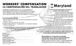 Free Maryland Workers' Compensation PDF (General Labor Law Poster Poster)