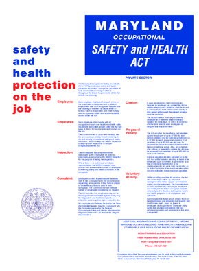 Maryland Occupational Safety and Health Act (Private Sector) PDF