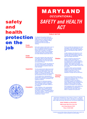 Maryland Occupational Safety and Health Act (Public Sector) PDF