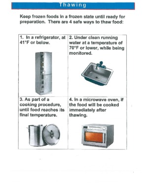 Free Maryland Thawing Method Guidelines PDF (Food Service Poster)
