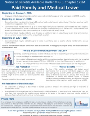 Free Massachusetts Paid Family and Medical Leave Poster PDF