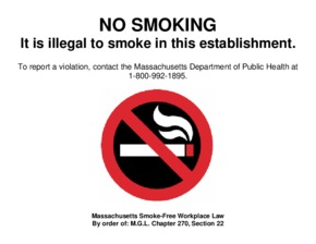 Free Massachusetts Massachusetts No Smoking Sign PDF