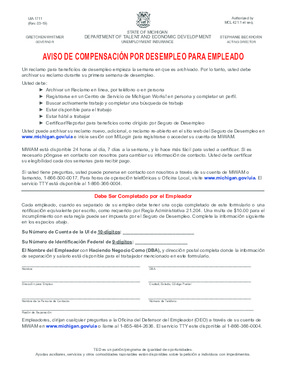 Information about Unemployment Benefits (Spanish) PDF