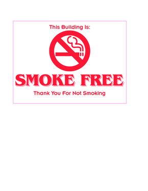 Michigan Smoke-Free Building Poster PDF