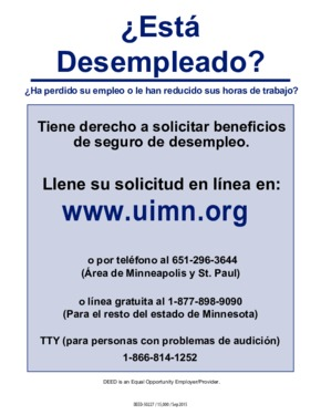 Free Minnesota Unemployed? (Spanish) PDF