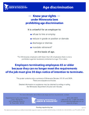 Free Minnesota Age Discrimination PDF (Equal Opportunity Law Poster)