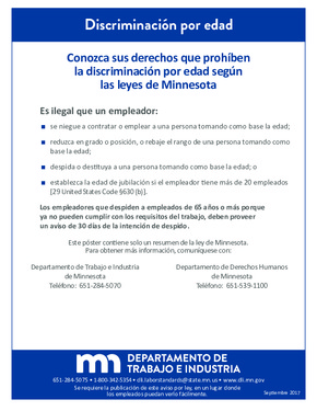 Free Minnesota Age Discrimination (Spanish) PDF