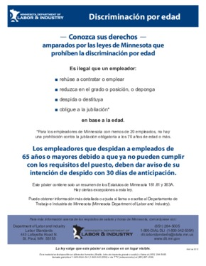 Free Minnesota Mandatory State Labor Law Poster Pack (Spanish) PDF (General Labor Law Poster Poster)
