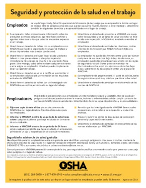 Free Minnesota Safety and Health on the Job (Spanish) PDF