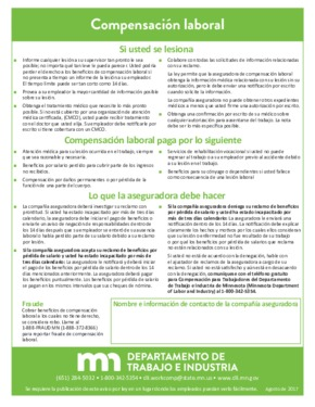 Free Minnesota Workers' compensation (Spanish) PDF