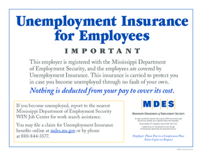 Free Mississippi Unemployment Insurance Poster PDF