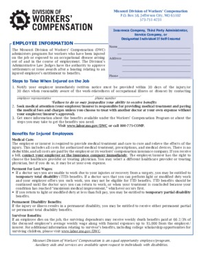 Free Missouri Workers' Compensation Law PDF (Workers Compensation Law Poster)