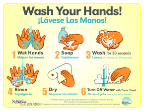 Free Nebraska Handwashing Poster for Educational Facilities PDF (General Labor Law Poster Poster)