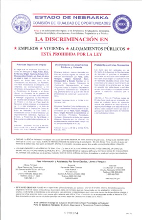 Free Nebraska Discrimination in Employment, Housing, and Public Accomodations (Spanish) PDF