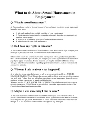 Free Nebraska Sexual Harassment in Employment PDF