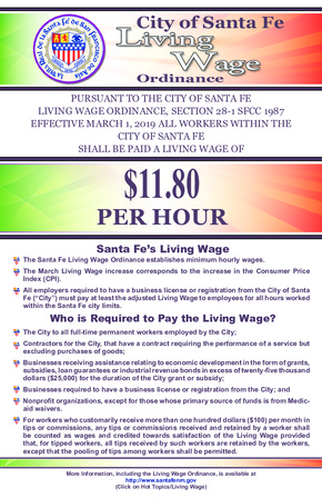 City of Sante Fe Living Wage Ordinance PDF