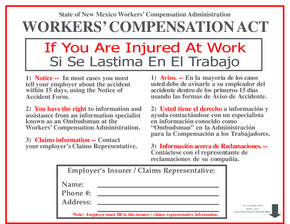 Free New Mexico Workers' Compensation Act PDF (Workers Compensation Law Poster)