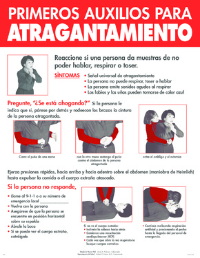 Free New York First Aid for Choking Poster (Spanish) PDF (First Aid Poster)