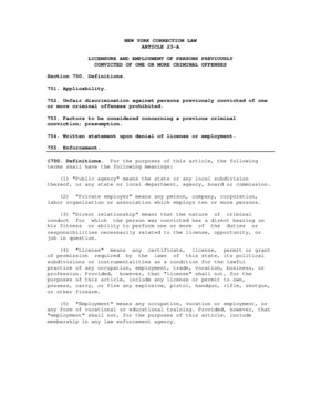 Free New York Criminal Convictions Records PDF (Equal Opportunity Law Poster)