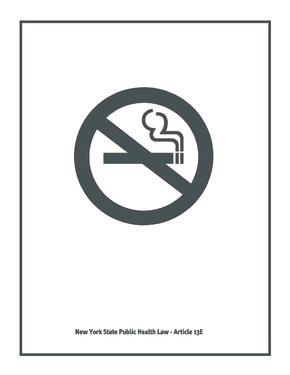 New York State Clean Indoor Air Act - No Smoking Poster PDF