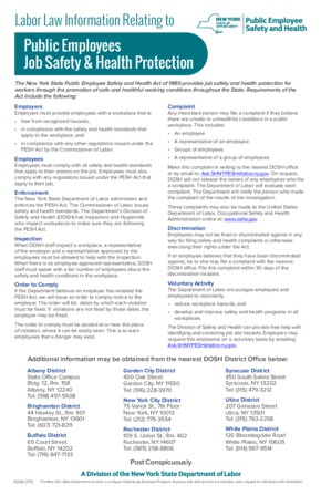 Free New York Safety & Health PDF (Job Safety Law Poster)