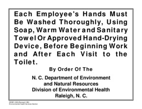 Free North Carolina Employee Handwashing Poster - Produce Safety PDF