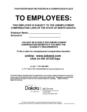 Job Service North Dakota Unemployment Insurance Poster PDF