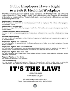 Free Oklahoma Public Employees Have a Right to a Safe & Healthful Workplace PDF