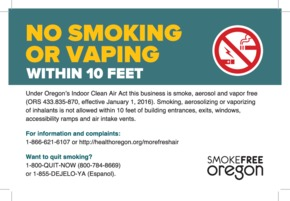 Free Oregon Oregon's Smoke free Workplace Law PDF