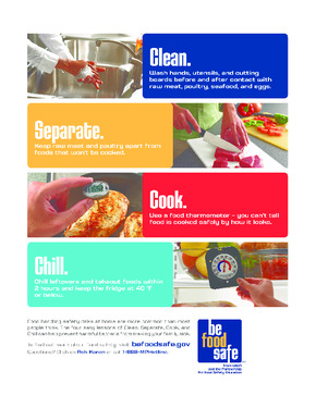 Free Restaurant USDA Food Safety - Clean Separate Cook Chill PDF