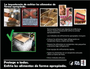 Free Restaurant FDA Why It's Important to Cool Food Properly (Spanish) PDF