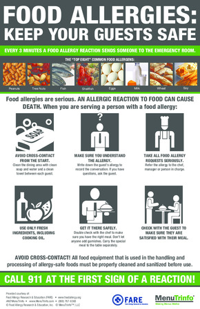 Free Restaurant Food Allergies - Keep Your Guests Safe PDF