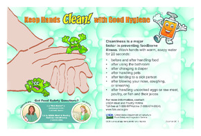Free Restaurant USDA Keep Hands Clean With Good Hygiene PDF (Food Service Poster)