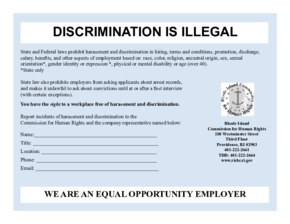 Free Rhode Island Discrimination is Illegal PDF