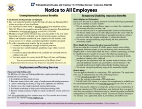 Free Rhode Island Rhode Island Unemployment Insurance and Temporary Disability Insurance Law PDF (Unemployment Law Poster)
