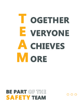 "Free South Dakota Safety ""Together Everyone Achieves More"" posting PDF"