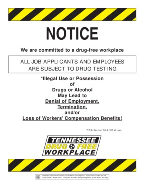 Free Tennessee Drug Free Workplace PDF