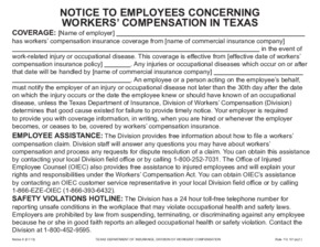 Free Texas Workers' Compensation Notice 6 - Election of Workers' Compensation PDF (Workers Compensation Law Poster)