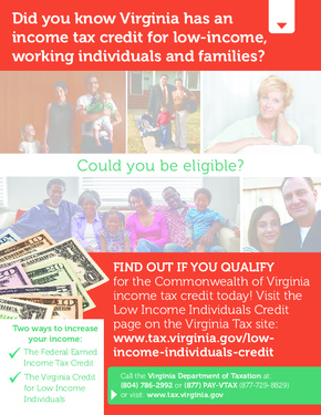 Free Virginia Commonwealth of Virginia Income Tax Credit PDF (General Labor Law Poster Poster)