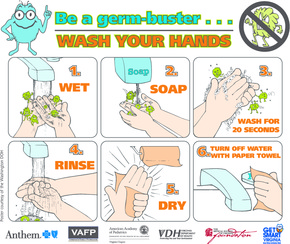 Free Virginia Virginia Handwashing Poster PDF (Miscellaneous Law Poster)