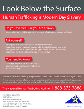 Free Virginia Human Trafficking Poster PDF (General Labor Law Poster Poster)