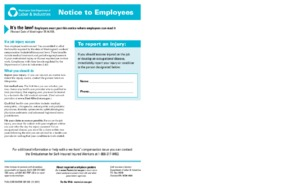 Free Washington Notice to Employees of Self-Insured Employers PDF (Workers Compensation Law Poster)