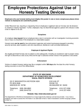 Employee Protections Against Use of Honesty Testing Devices PDF
