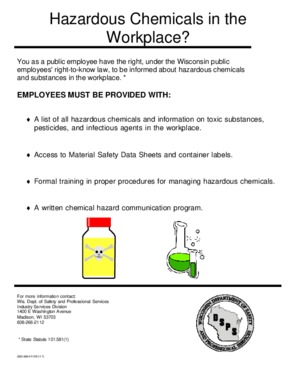 Free Wisconsin Hazardous Chemicals in the Workplace? PDF