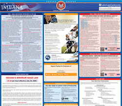 All-in-one Indiana labor law poster