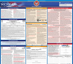 All-On-One 2018 Michigan State /& Federal Labor Law Poster