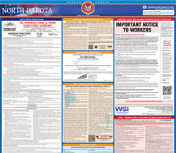 All-in-one North Dakota labor law poster